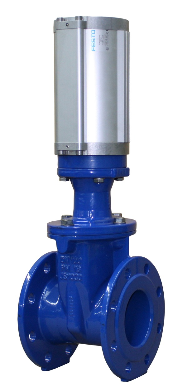 VAG EKO<sup><sup>®</sup></sup><em>plus</em> Gate Valve with pneumatic actuator