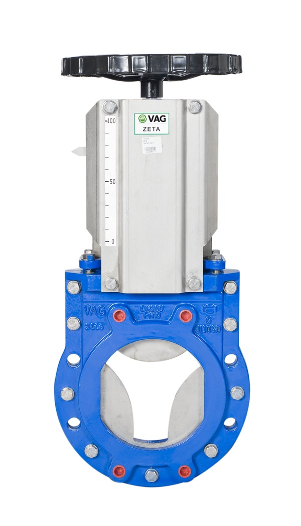 VAG ZETA<sup><sup>®</sup></sup>control Knife Gate Valve <span>with handwheel</span>